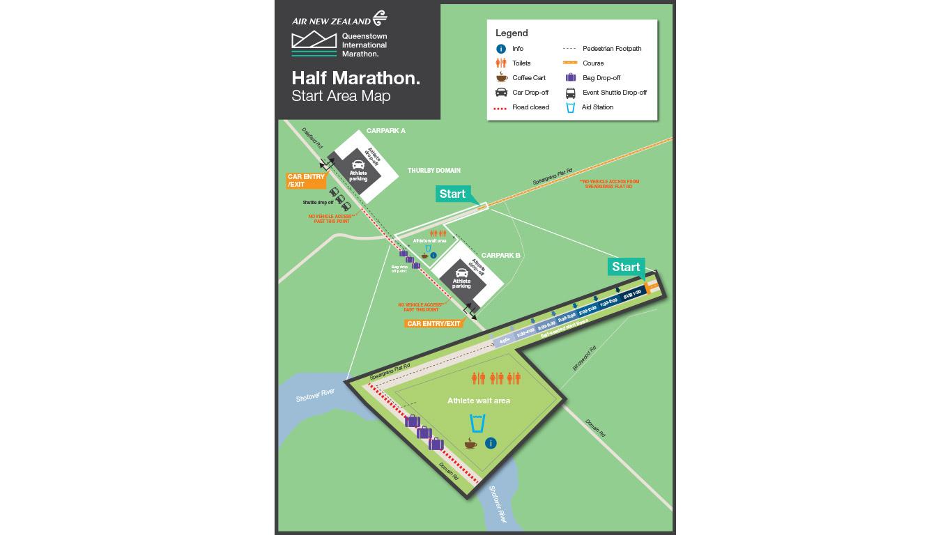 New Zealand Map Pdf.Nz Sotheby S International Realty Half Marathon Queenstown