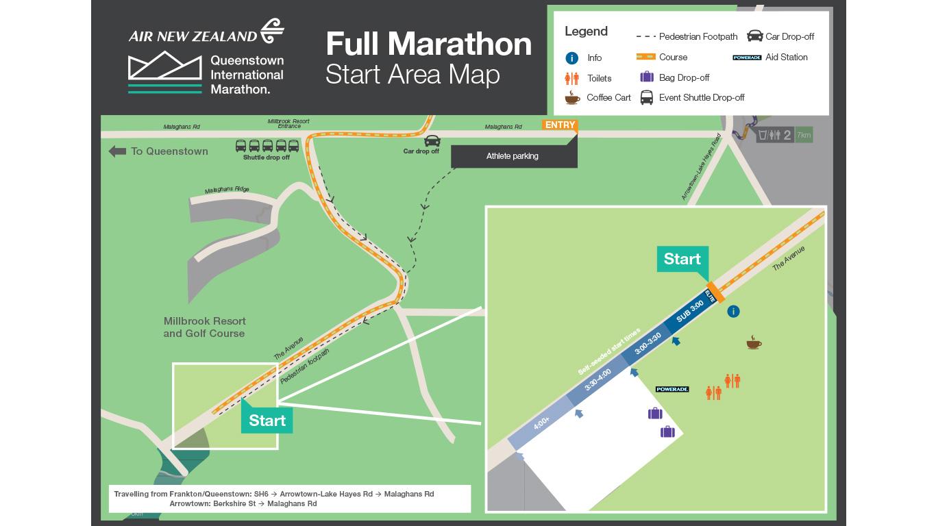 Map Of New Zealand Queenstown.Air New Zealand Marathon Queenstown International Marathon